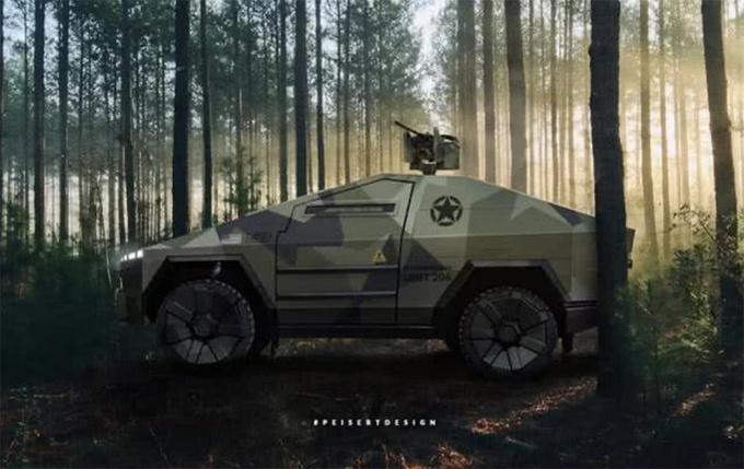 特斯拉Cybertruck变身军用装甲 科幻战场风格-图9