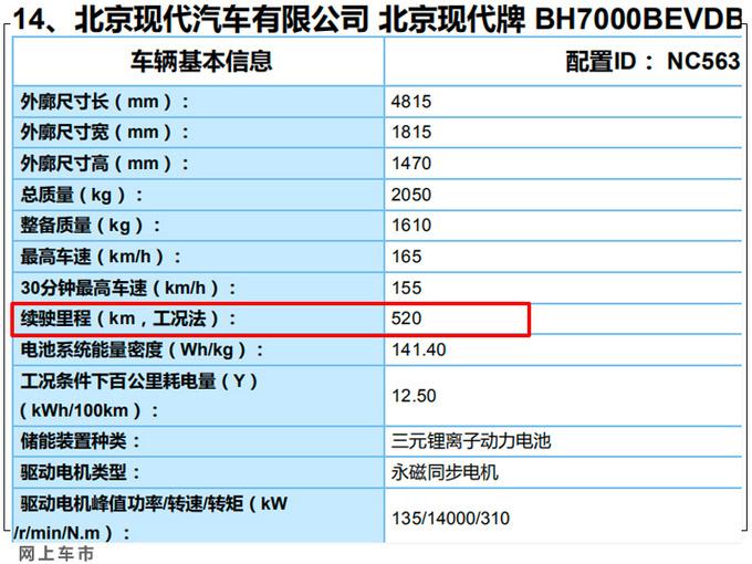 现代全新名图纯电版曝光尺寸超Model 3续航520km-图8
