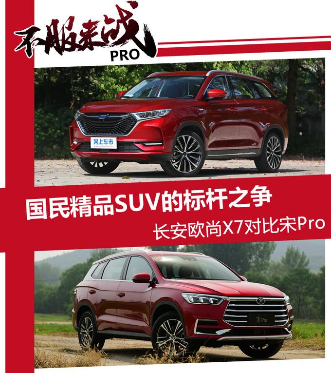 国民精品SUV的标杆之争 长安欧尚X7对比宋Pro-图1