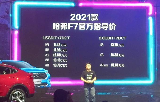 哈弗2021款F7/F7x上市 售11.18万起 配置大幅升级-图1