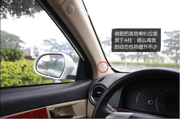 荣威350音响改装的几点建议 提高高音喇叭位置高清图片