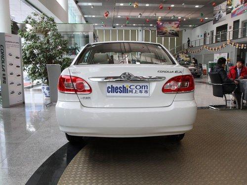 一汽丰田  花冠EX 1.6 MT 车辆正后方尾部视角
