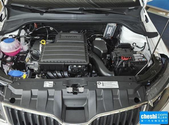 斯柯达  1.4L 自动 发动机局部特写